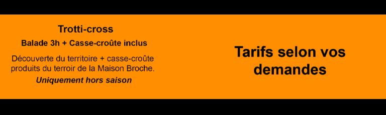 Tableau Trotti-cross 3 heures